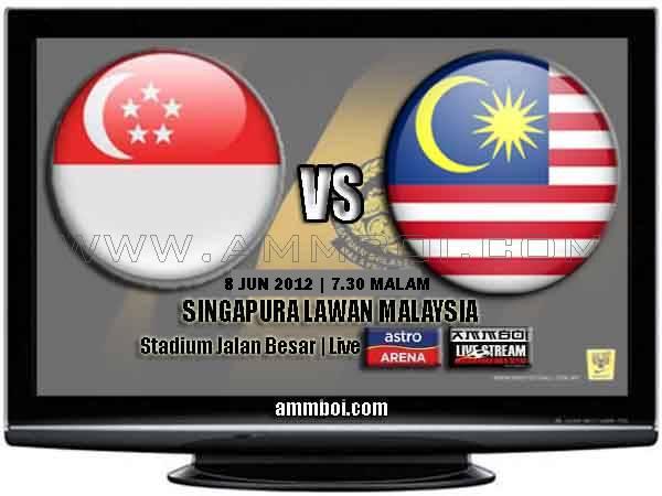 Keputusan Penuh Malaysia VS Singapura 8 Jun 2012