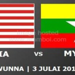 LIVE STREAMING MALAYSIA VS MYANMAR 3 JULAI 2012