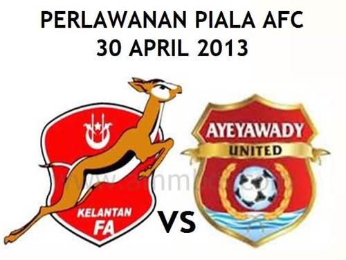 kelantan vs ayeyawady united 2013