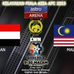 VIDEO GOL DAN KEPUTUSAN PENUH KELAYAKAN PIALA ASIA YEMEN VS MALAYSIA 5 MAC 2014