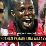 SENARAI PENUH PERPINDAHAN PEMAIN LIGA MALAYSIA APRIL 2014